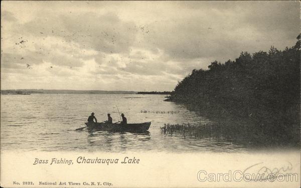 Bass fishing chautauqua lake ny postcard for Chautauqua lake fishing report