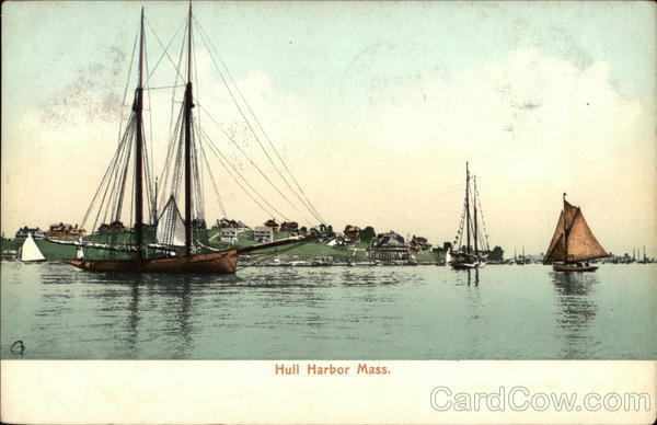 Boats in Hull Harbor Massachusetts