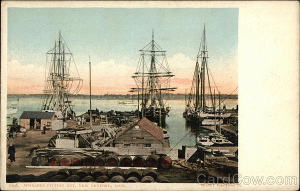 Whales Fitting Out New Bedford Massachusetts Boats, Ships