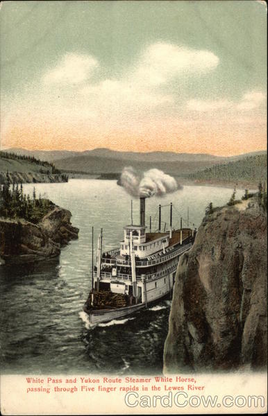 White Pass and Yukon Route Steamer White Horse Five Finger Rapids Canada