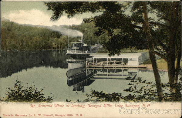 Str. Armenia White at Landing, Georges Mills Lake Sunapee New Hampshire
