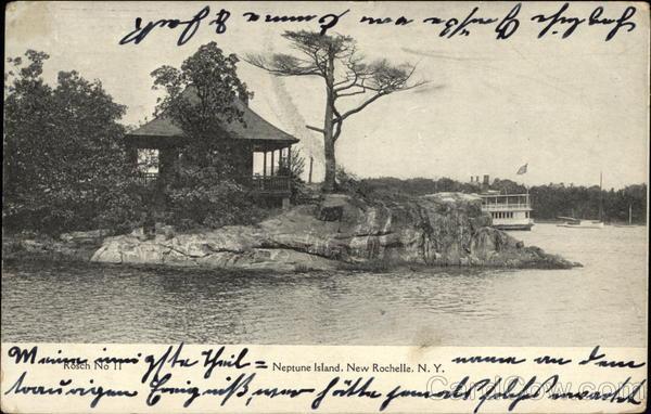 neptune island new rochelle ny postcard. Black Bedroom Furniture Sets. Home Design Ideas