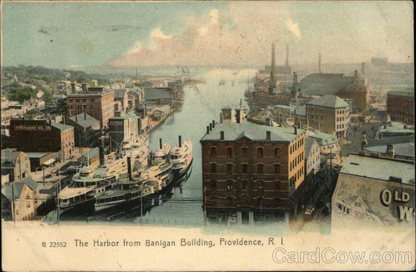 The Harbor From Banigan Building Providence Rhode Island