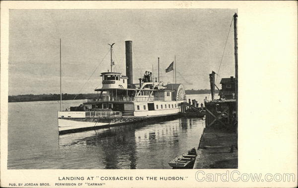 Landing at Coxsackie on the Hudson Steamers