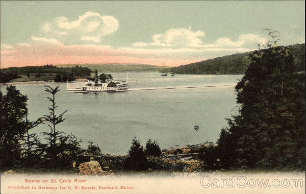 Scene on St. Croix River Boats, Ships