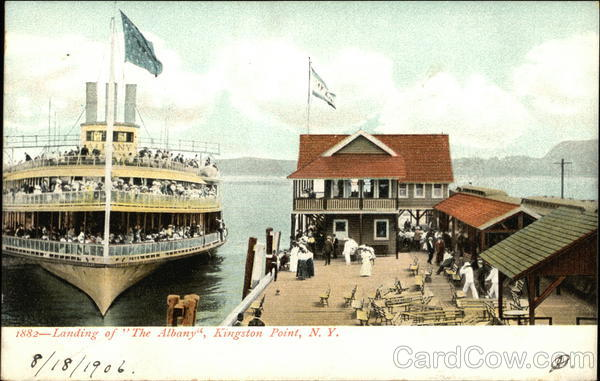 Landing of The Albany Kingston Point New York Steamers