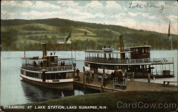 Steamers at Lake Station Lake Sunapee New Hampshire