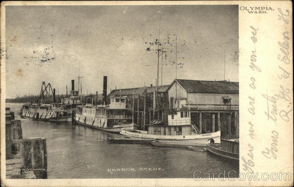 Harbor Scene Olympia Washington