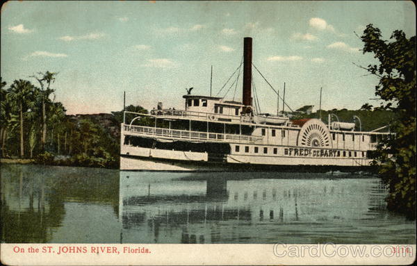 On the St. Johns River Steamer Frederick Debary Florida