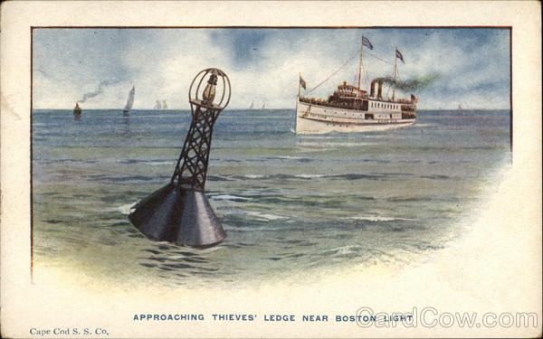 Approaching Thieves' Ledge Near Boston Light Boats, Ships
