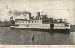 "Steamer ""Lord Baltimore"" Approaching Pier"