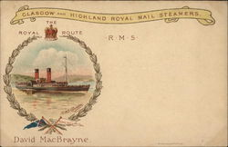 Glasgow and the Highland Royal Mail Steamers RMS Columba