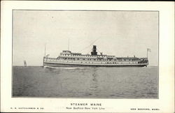Steamer Maine, New Bedford-New York Line, H.S. Hutchinson & Co.