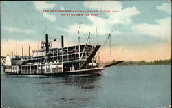 Excursionists Approaching Alton on Steamer Alton