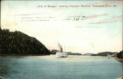 """City of Bangor"" Entering Hampton Narrows"