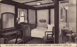 DeLuxe Stateroom on Steamer of the Eastern Steamship Lines, Inc.