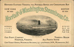 SS Southland, Norfolk & Washington Steamboat Co.