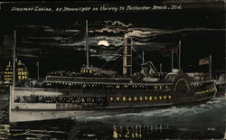 Steamer Louise, by Moonlight Postcard