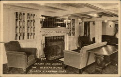 Library and Lounge, The Western World, Munson Steamship Lines