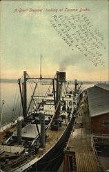 A Giant Steamer Loading at Tacoma Docks
