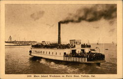 Mare Island Workmen on Ferry Boat, Vallejo