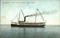 The Steamer Cabrillo Leaving Avalon