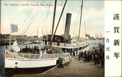 The Steamer Cabrillo Leaving San Pedro