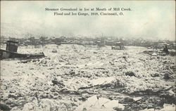 Steamer Greenland in Ice at Mouth of Mill Creek