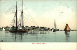 Boats in Hull Harbor