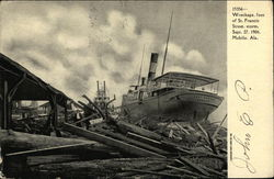 Wreckage, Foot of St. Francis Street