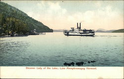 Steamer Lady of the Lake; Lake Memphremagog, Vermont
