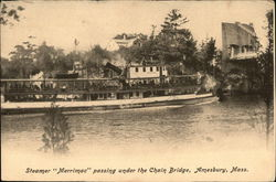 "Steamer ""Merrimac"" Passing Under the Chain Bridge"