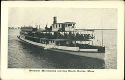 Steamer Merrimack Leaving Black Rocks