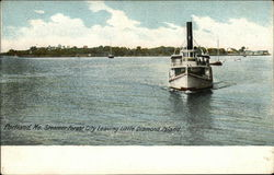 Steamer Forest City Leaving Little Diamond Island