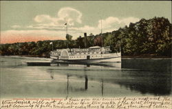 Steamer Kennebec Leaving Gardiner