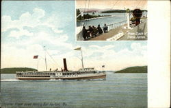 Steamer Frank Johns Leaving Bar Harbor