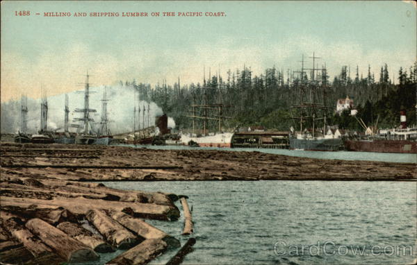 Milling and Shipping Lumber on the Pacific Coast Boats, Ships