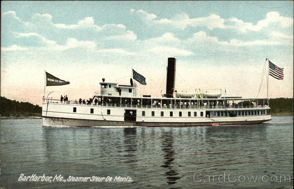 Steamer Sleur De Monts Bar Harbor Maine