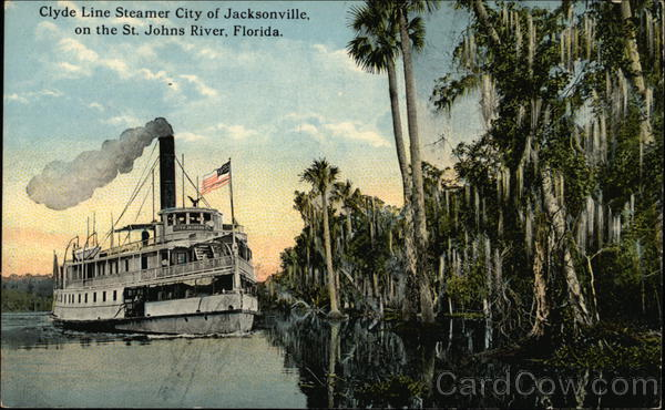 Clyde Line Steamer City of Jacksonville St. Johns River Florida
