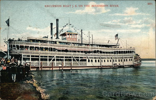 Excursion Boat J.S. on the Mississippi Boats, Ships