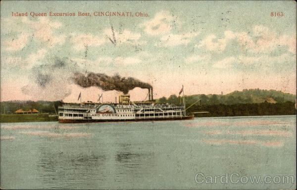 Island Queen Excursion Boat on the Water Cincinnati Ohio
