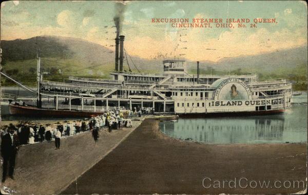 Excursion Steamer Island Queen Cincinnati Ohio