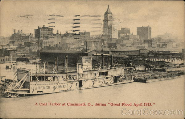 A Coal Harbor during Great Flood April 1913 Cincinnati Ohio