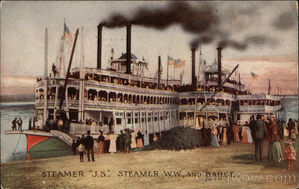 Steamer J.S., Steamer, W.W. and Barge Boats, Ships