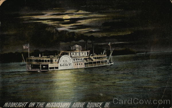 Moonlight on the Mississippi Quincy Illinois