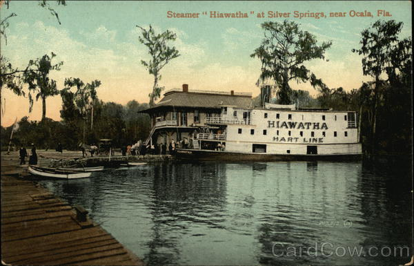 Steamer Hiawatha at Silver Springs Ocala Florida