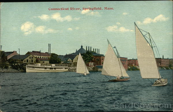 Boats on the Connecticut River Springfield Massachusetts