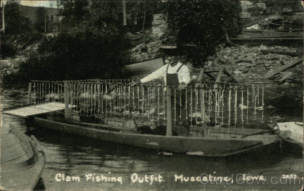 Clam Fishing Outfit Muscatine Iowa