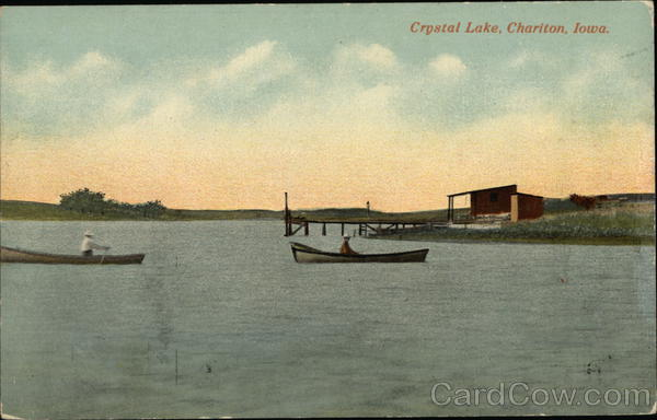 Boats on Crystal Lake Chariton Iowa