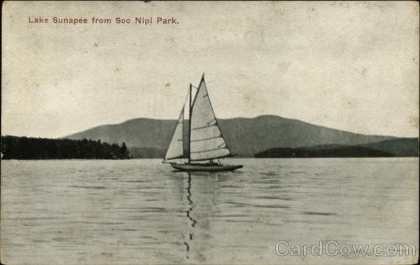 Lake Sunapee From Soo Nipi Park New Hampshire Sailboats